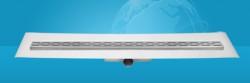 Easydrain Compact ff 50 afvoergoot 6x90 cm. zijuitlaat met afdichtingsdoek rvs EDCOMFF90050
