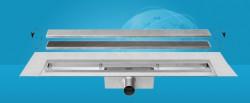 Easydrain Compact 30 taf wall afvoergoot 100 x 6 cm. zijaansluiting rvs EDCOMTAFW100030