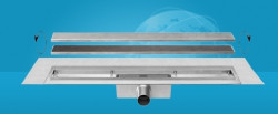 Easydrain Compact 30 taf wall afvoergoot 50 x 6 cm. zijaansluiting rvs EDCOMTAFW50030