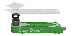 Easydrain Wtw warmte terug win systeem 65x16 cm.h 90mm.met sifon EDWTW