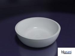 Blusani Solid opzet waskom 42 cm glans wit BS301151