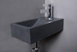 Forzalaqua VENETIA fontein graniet gezoet 40x22x10cm geen kraangat rechts 8011310