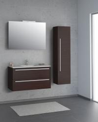 Isani Akron meubelset met greep donker kastanje 90x46cm 1 krg 2 laden spiegel 60040102