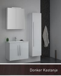 Isani Akron meubelset met greep donker kastanje 60x46cm 1 krg 2 deuren spiegelkast 60020202D