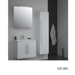 Isani Akron meubelset met greep hoogglans wit 60x46cm 1 krg 2 deuren spiegel 60020101D