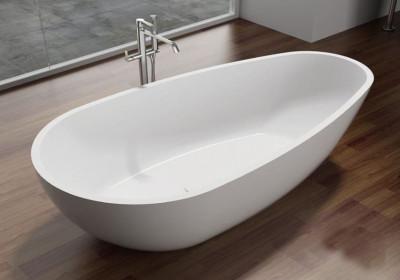 Solid-S Oval Duo vrijstaand ligbad 180x90x58 mat wit SOLID9099