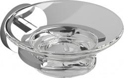 Clou Flat zeephouder chroom en helder glas PhotoFreestanding