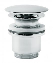 Clou InBe afvoerplug voor wastafels zonder overloopgat niet afsluitbaar rond chroom PhotoFreestanding