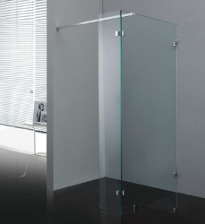 Stern Inloopdouche 100 met zijwand 30 profielloos chroom helder glas ST4210