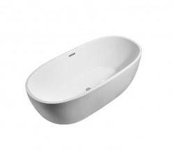 AquaDesign vrijstaand ligbad Round 170x78x60cm acryl wit