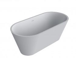 Solid-S Moderna vrijstaand ligbad corian L170xB80xH60cm mat wit