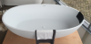 Solid-S Allessi vrijstaand bad 177,5x91 solid surface mat zwart 1208775482