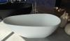 Solid-S Cannes vrijstaand bad 160x80 solid surface mat zwart 1208775622