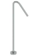 Rubio Inox vrijstaande wastafeluitloop 94,5cm volledig RVS 1208776112