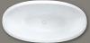 Design vrijstaand bad 169x84 solid surface mat wit 1208787882