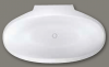 Design vrijstaand bad 169x94 solid surface mat wit 1208787892