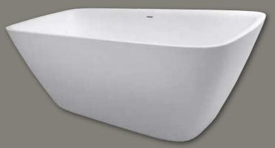 Design vrijstaand bad 174x77 solid surface mat wit 1208787902