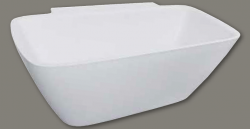 Design vrijstaand bad 174x86 solid surface mat wit 1208787912