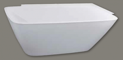 Design vrijstaand bad rechts 180x86 solid surface mat wit 1208787922