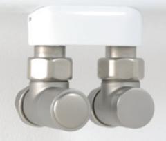 Instamat radiator aansluitset haaks Cylinder rvs CM.HA
