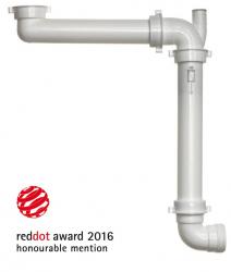 Ruimtebesparende sifon red dot award tbv een keukenspoelbak 1208816602