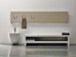 Instamat Treo designradiator 39.8x203 cm glanzend wit TR40.200
