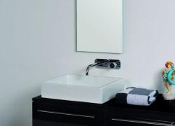 Ink Unlimited porselein opbouw wastafel glans wit 55x38x11cm geen kraangat 0203011