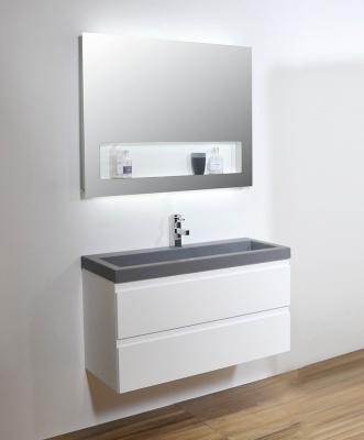 Ink spiegel SP8 60x8x80cm geïntegreerd planchet stopcontact en indirecte led verlichting boven, onder en binnenzijde 8408100