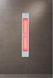 Sunshower Pure White XL inbouw full body 2x 1000W infrarood lamp 19.9x10x123.8cm 80074