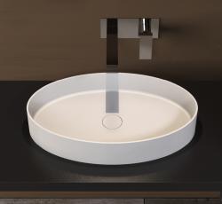 Solid-S SolidthinEL opbouwwastafel ovaal mat donker grijs B60xD35xH12.5cm 1208831922