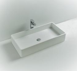 Solid-S SolidTop opbouwwastafel rond mat wit B80 x D40 x H15cm 1208831962