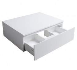 Solid S onderkast 60x46 cm Solid Surface mat wit 1208832312