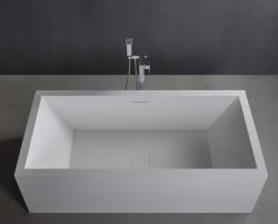 Solid S vrijstaand ligbad rechthoekig 180 x 80 x 58 cm mat wit 1208832372