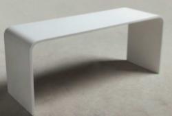 Solid S badkamertafel Solid surface 90 x 30 x 43 cm wit mat 1208832562