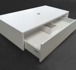 Solid-S onderkast 90x46 cm Solid Surface mat wit 1208852552