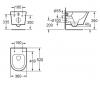 Aquadesign Montreal wandtoilet rimless mat wit 1208913652