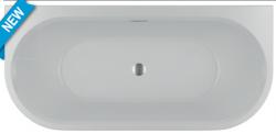RIHO Desire semi vrijstaand acryl bad 180x86, wit, incl. pootset/badafvoer 1208915902