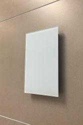 Sunshower ventilatierooster white rechthoek 80022