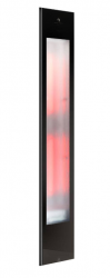 Sunshower Pure Zwart XL inbouw full body 2x1000W infrarood lamp 19.9x10x123.8cm 80064