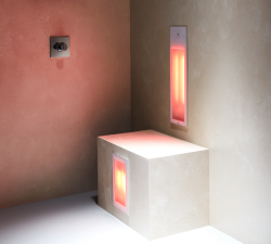 Sunshower Duo White inbouw infra rood lamp 1x 1000W 1 x  500W 80075