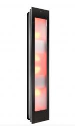 Sunshower Combi Zwart opbouw full body infrarood en UV-lampen 29x22.8x144cm 80062