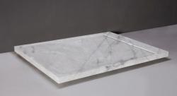 Forzalaqua FRESCO marmere douchebak Carrara gepolijst 120x90x5cm inclusief rvs goot 300020