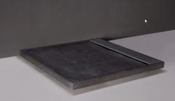 Forzalaqua FRESCO granieten douchebak Graniet gezoet 120x90x5cm inclusief rvs goot 8010860
