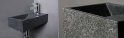 Forzalaqua VENETIA fontein graniet gebrand 40x22x10cm met kraangat rechts 8011205