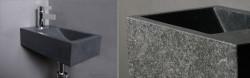 Forzalaqua VENETIA fontein graniet gebrand 40x22x10cm met kraangat links 8011200
