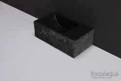Forzalaqua VENETIA xs fontein graniet gekapt links 29 x 16 x 10 cm met kraangat links 8010314 kloon 23-01-2019 12:41:35
