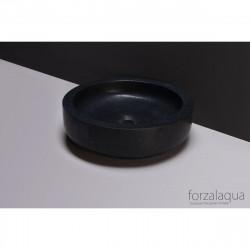 Forzalaqua Verona opbouw opzetkom rond antraciet graniet gezoet 40 x 12 cm zonder overloop 8010235