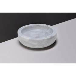 Forzalaqua Verona marmeren opbouw opzetkom rond Carrara marmer gepolijst 40 x 12 cm zonder overloop 100440