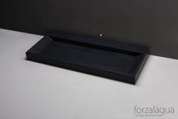 Forzalaqua BELLEZZA wastafel graniet gezoet 100,5 x 51,5 x 9 cm geen kraangat 8010304