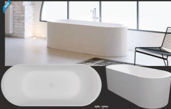 Riho Essence From Scratch vrijstaand bad 170x72cm solid surface wit BS70005